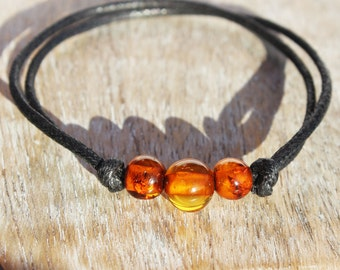 Charming Multicolour Baltic Amber Bracelet. 3 different designs. Genuine Baltic Amber, gift packaging. Perfect stockings gift