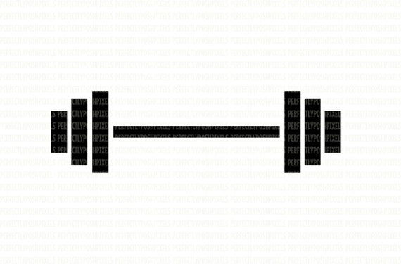 Barbell Weights Fitness Svg Digital File Dxf Eps Clip Art Cut