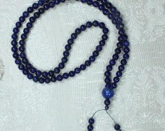 lapis lazuli finish Tibetan mala beads
