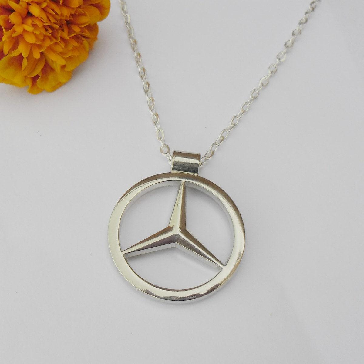 Mercedes benz merc silver necklace pendant or mirror dangler zoom aloadofball Choice Image