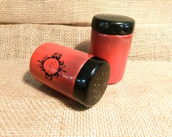 Vintage West Bend Red Ombre Salt and Pepper Shakers