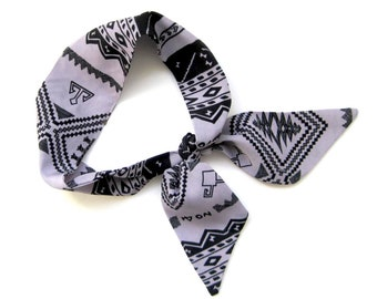 Choker Scarf, Wrist Scarf, Purse Scarf, Skinny Scarf, Hair Scarf, Ponytail Scarf, Short Scarf, Gift for Her, Under 20 Dollars, Ready to Ship
