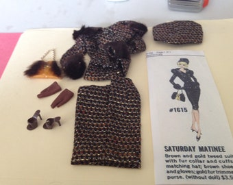 Vintage Barbie #1615 Saturday Matinee NM/repro purse?