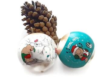 Vintage Ziggy Ornaments  2 1979 Christmas Decor Stocking Stuffer