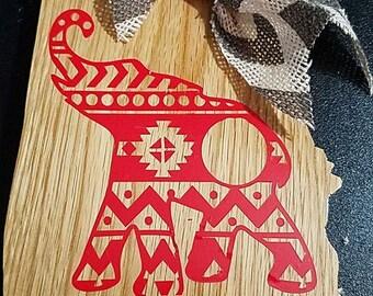 Alabama Crimson Tide Tribal State Display