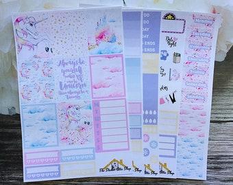 Unicorn Planner Sticker Kit / Unicorn Weekly Kit / Erin Condren Vertical Kit