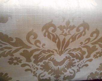 OffWhite Damask fabric 3 1/2 yards