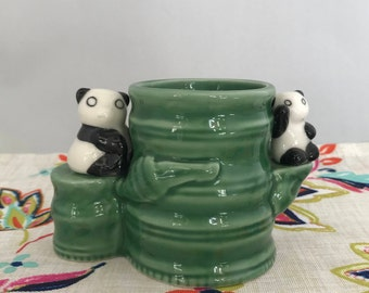 Small Panda Bamboo Planter