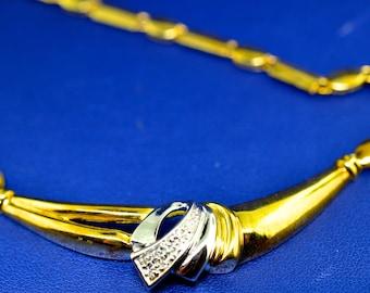 18K Gold and Diamond Vintage Necklace