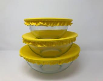Reusable Bowl Covers, Yellow