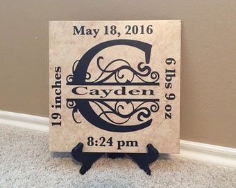 Baby Announcement Sign, Baby Announcement, New Mom, Mother's Day, Baby Shower, Sip and See, Hospital Gift, Baby Girl, Baby Boy, Mom Gift