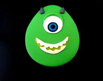 Fondant Mike, Monster Inc cake topper