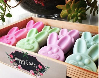 8 units,Easter Bunny Soap, Bunny Soap, Easter Favors, Easter Gift, Hostess Gift, Scented Bunny Soap, Kids Easter Gift, Easter Basket Gift.