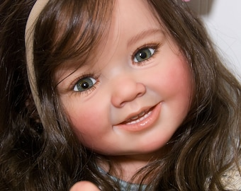 Ready to ship ~ Reborn Toddler Doll Baby Girl Cammi by Ping Lau~ You Choose All the Details Human Hair Glass Eyes