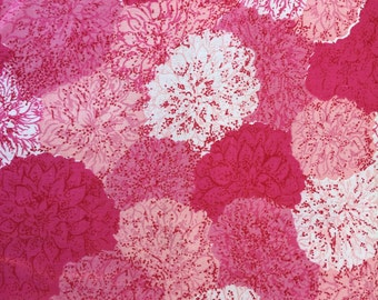 True vintage new old stock cotton fabric quilt cotton remnant