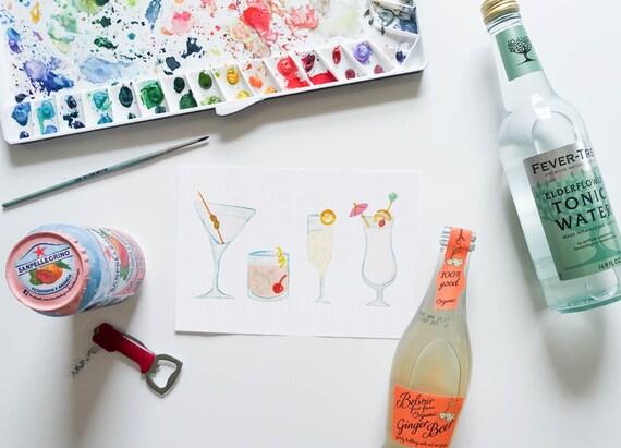 Cocktails Print