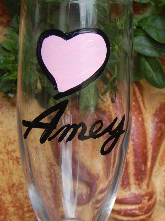 Custom Mother's Day champagne flutes