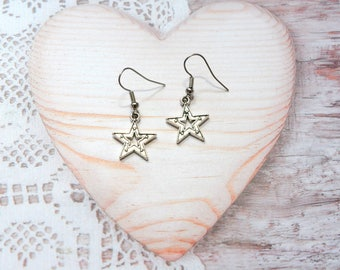 Pair earrings star, star jewelry