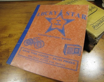 Vintage Lucky Star Composition Book
