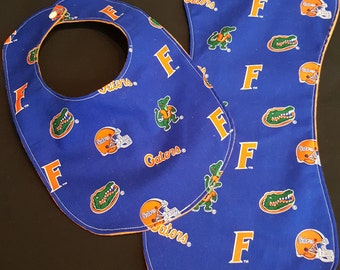 Custom University of Florida Gators Baby Bib and Burp Cloth
