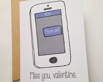 Long Distance Valentine / Naughty Valentine's Day Card / Sexy Valentine for Him