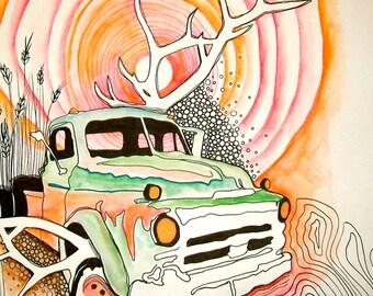 Art Card - Victor Truck by Aimee Babneau
