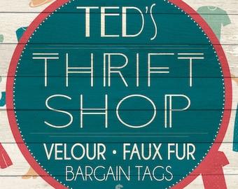 Custom Thrift Shop Sign Digital Download
