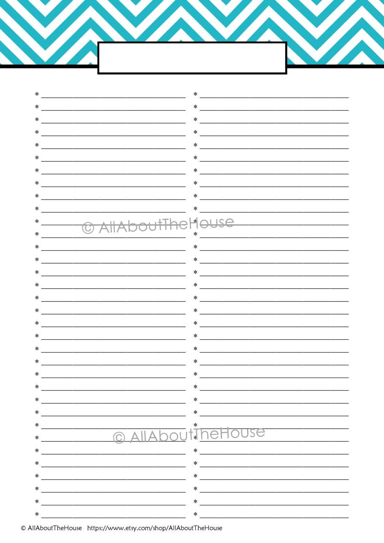 Printable Office Supply List Editable Printable To Do List Printable Shopping List