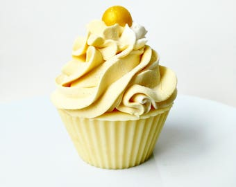 Lemon Soapy Cupcake, Handmade Soaps, Homemade Soaps, Handcrafted Soap, All Natural Soap, Yellow Soap, Bar Soaps, Cold Process Soap, Cupcake