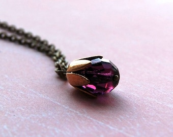 Purple Blossom Necklace
