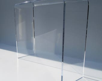 "3/4"" Thick Lucite- Acrylic Sofa / Console Tables"