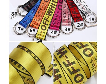 off-white belts,ladies waistband,letters woven belts,belt loop,belt buckle,,off-white patch