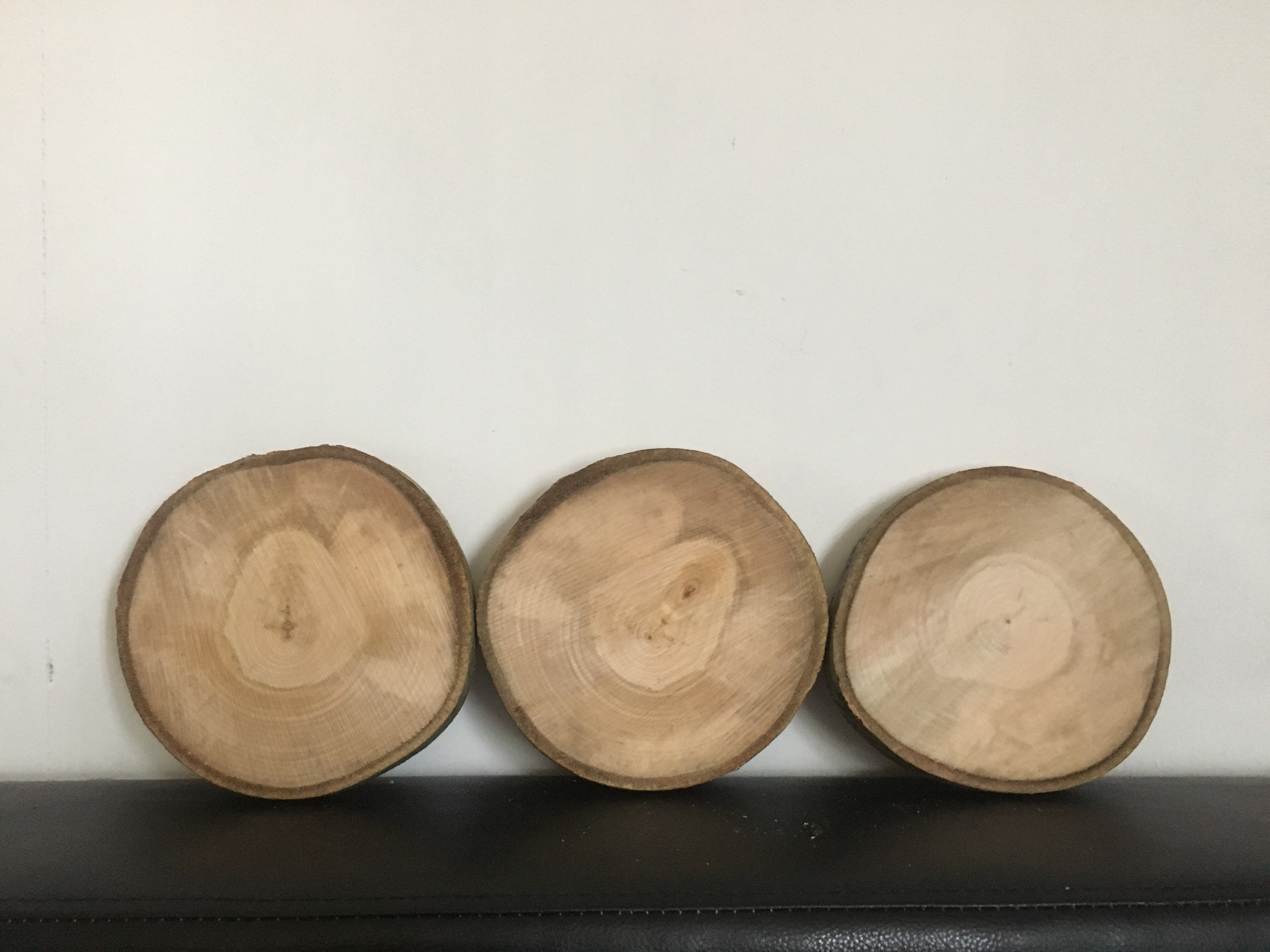 3 pc. 5.51 inch wood circles, tree circles, wood slices for sale ...