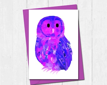 Owl card, Personalised owl collage card, Owl lover birthday card, Cute bird birthday card, Owl lover card, Unique owl greeting card