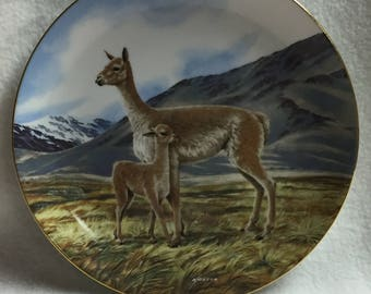 W.L. George Last of Their Kind: The Endangered Species Collector Plate - 'The Vicuna' (#148)
