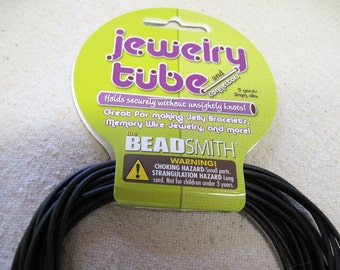 Jewelry Tube for Memory Wire Jelly Bracelets 2mm Black 5 Yards