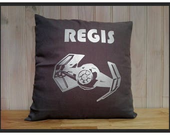 """STAR WARS """"ship Tie Fighter Darth Vader"""" personalized pillow"""