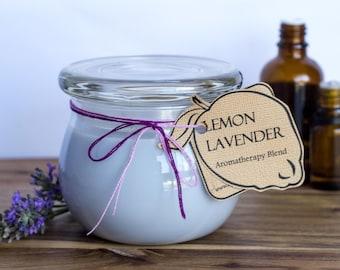 Lemon Lavender Handmade Aromatherapy Soy Candle