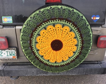 Ready To Ship Sparetire Cover Jeep The Big Sunflower
