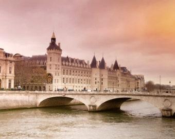 La Conciergerie and Seine River, Paris, France,Instant Download, Digital, Printable Fine Art Photography, Wall Decor, High Resolution, E54