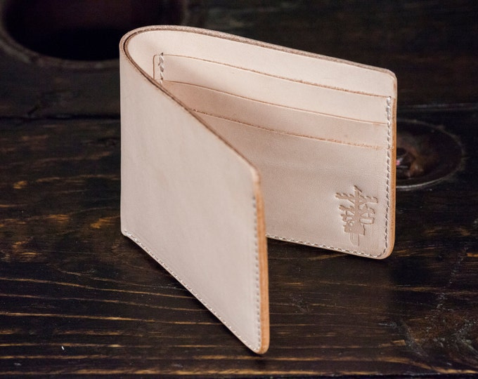 Natural Vegetable Tanned Wallet Natural Vegtan Bifold Wallet