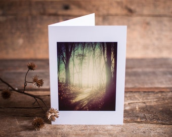 Mysterious Path Greeting Card | Woods, Trail, Wander, Mystery, Journey, Magic, Woodland, Trees, Forest, Landscape, Enchantment