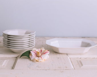 Set of Ironstone Dishes/8 Small Bowls/ Serving Dish