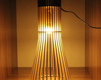 """Drawing of lamp """"LUCH"""" for woodworking DIY PDF"""