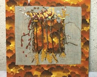 Autumn patchwork table
