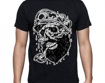 Old School Tattoo Skull Sailor  T-shirt