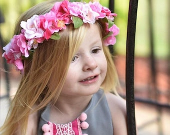 Cherry blossom crown / flower crown / cherry blossom flower crown / flower girl