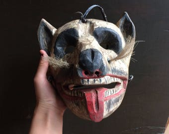 Antique dance mask, animal head
