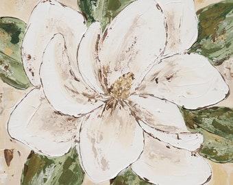 Magnolia Print, Magnolia Art, Fine Art, Magolia Blossom Painting, Floral Art, Floral Painting, Farmhouse Art, Farmhouse Decor