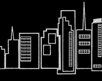 Skyline von Miami - Stadt - Florida - Stickerei-Design-Datei - mehrere Formate - 3 Größen-sofortiger download